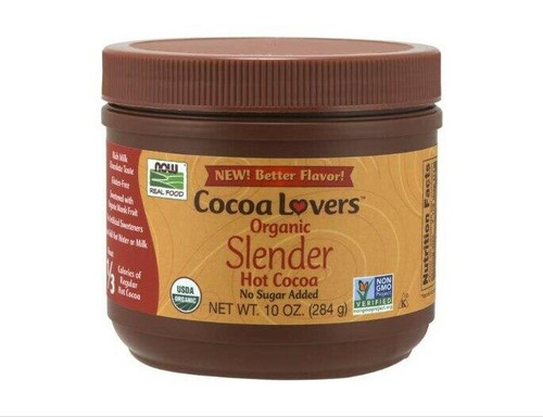 NOW Cocoa Lovers Slender Hot Cocoa, Organic 10oz