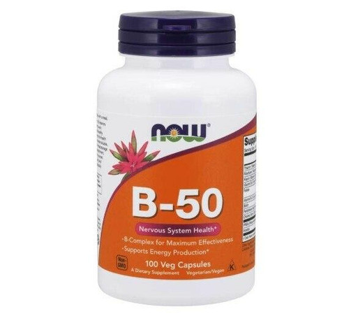 NOW B-50 Nervous System Health 100ct, NOW
