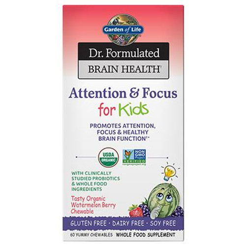 Garden Of Life Dr Formulated Brain Health For Kids Attention and Focus