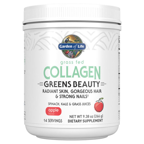 Garden Of Life Grass Fed Collagen Greens Beauty Apple 266g Powder