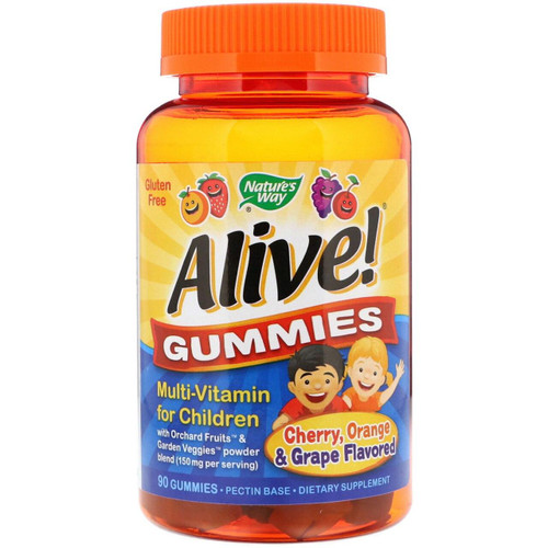 Natures Way Alive Children Multivitamin gummies 90ct