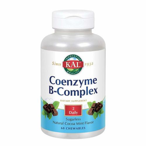 Kal Coenzyme B-Complex 60ct, choc-mint