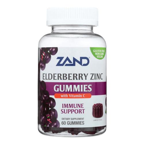 Zand Elderberry Zinc Gummies 60ct With Vit C