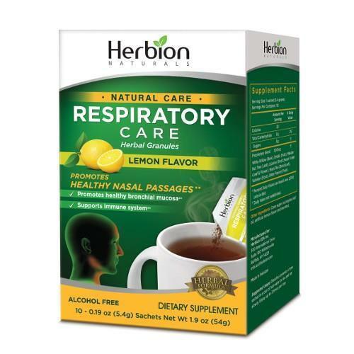 Herbion Naturals Respiratory Care Lemon 10 Sachets