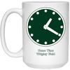 Wrigley Field Clock 15 oz Mug by ThirtyFive55 at SportsWorldChicago