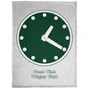 Wrigley Field Clock Cozy Plush Fleece Blanket by ThirtyFive55 at SportsWorldChicago