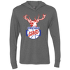 Chicago Stags Tri-Blend Long Sleeve Hooded T-Shirt by ThirtyFive55 at SportsWorldChicago