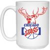 Chicago Stags 15 Oz White Mug by ThirtyFive55 at SportsWorldChicago