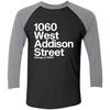 1060 W Addison Street Tri-Blend 3/4 Sleeve Baseball Raglan T-Shirt by ThirtyFive55 at SportsWorldChicago