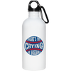 There's No Crying in Baseball 20 Oz. Stainless Steel Water Bottle