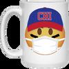 Baseball Maskmoji 15 Oz. Mug