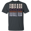 Chicago Football Team Stacked T-Shirt