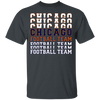 Chicago Football Team Stacked Youth T-Shirt