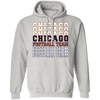 Chicago Football Team Stacked Hoodie