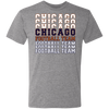 Chicago Football Team Stacked Tri-Blend Tee