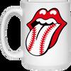 Baseball Lips Coffee Mug