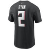 Matt Ryan Atlanta Falcons Black Player T-Shirt