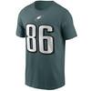 Zach Ertz Philadelphia Eagles Teal Player T-Shirt