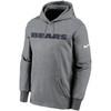 Chicago Bears Gray Wordmark Therma Pullover Hoodie