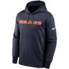 Chicago Bears Marine Wordmark Therma Pullover Hoodie