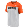 Cleveland Browns Silver Wordmark Historic Colorblock T-Shirt