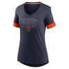 Chicago Bears Marine Women's Mascot Outline Fashion Tri-Blend Top