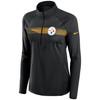Pittsburgh Steelers Black Women's Logo Element Half Zip Pullover