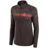 Cleveland Browns Brown Women's Logo Element Half Zip Pullover