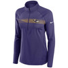 Baltimore Ravens Orchid Women's Logo Element Half Zip Pullover