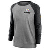 Pittsburgh Steelers Gray Women's Left Chest Logo Gym Vintage Sweatshirt