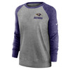 Baltimore Ravens Gray Women's Left Chest Logo Gym Vintage Sweatshirt