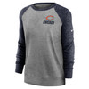 Chicago Bears Gray Women's Left Chest Logo Gym Vintage Sweatshirt