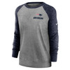 New England Patriots Gray Women's Left Chest Logo Gym Vintage Sweatshirt