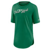 New York Jets Green Women's Historic Logo Weekend T-Shirt