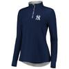New York Yankees Navy Women's Iconic Clutch 1/2 Zip