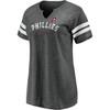 Philadelphia Phillies Charcoal Women's True Classics Triblend Smooth Tunes Shirt