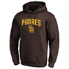 San Diego Padres Brown Team Lockup Hood