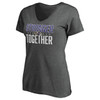 Baltimore Ravens Charcoal Women's Stronger Together T-Shirt