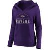 Baltimore Ravens Purple Women's Iconic Cotton Fleece League Leader V-Neck