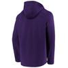 Baltimore Ravens Purple Iconic Poly Embossed Defender Fleece Hood