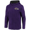 Baltimore Ravens Purple Iconic Poly Embossed Defender Fleece Full Zip