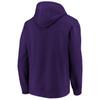 Baltimore Ravens Purple Iconic Cotton Fleece Color Block Hood
