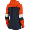Chicago Bears Navy Women's Iconic Cotton Fleece Colorblock Hood