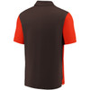 Cleveland Browns Brown Iconic Clutch Color Blocked Polo