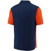Denver Broncos Navy Iconic Clutch Color Blocked Polo
