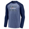 Denver Broncos Navy Iconic Marble Clutch Long Sleeve