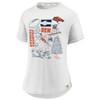 Denver Broncos White Women's True Classics Bi T-Shirt