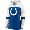 Indianapolis Colts Blue Women's Iconic Cotton Fleece Colorblock Hood