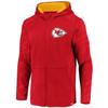 Kansas City Chiefs Red Iconic Poly Embossed Defender Fleece Full Zip
