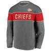 Kansas City Chiefs Gray True Classics Signature Fleece Blocked Crew
